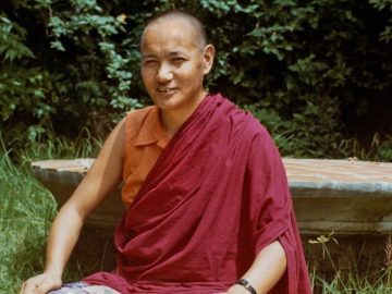 (15172_pr.psd) Portrait of Lama Yeshe taken during his studies, 1972, at Kopan Monastery, Nepal. Photo by Robbie Solick.