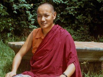 (15172_pr.psd) Portrait of Lama Yeshe taken during his studies, 1972, at Kopan Monastery, Nepal. Photo by Robbie Solick.