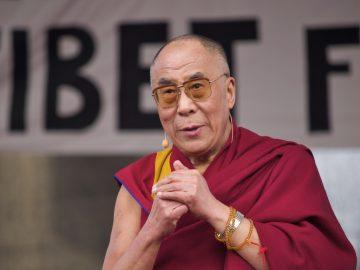 Der Dalai Lama zu Gast in Berlin. Großveranstaltung am Brandenburger Tor.